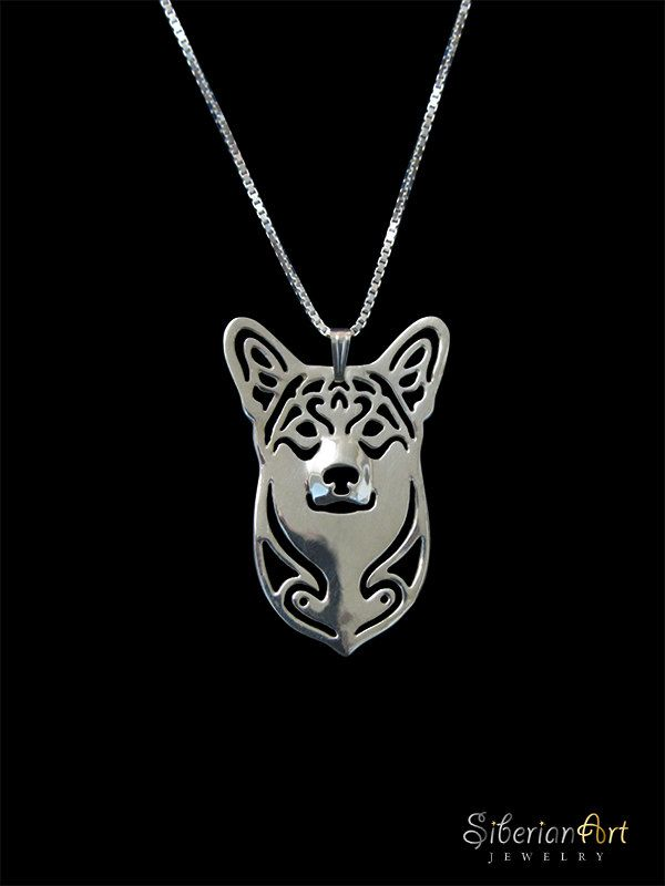 Pembroke Welsh Corgi jewelry  sterling by SiberianArtJewelry, $99.00