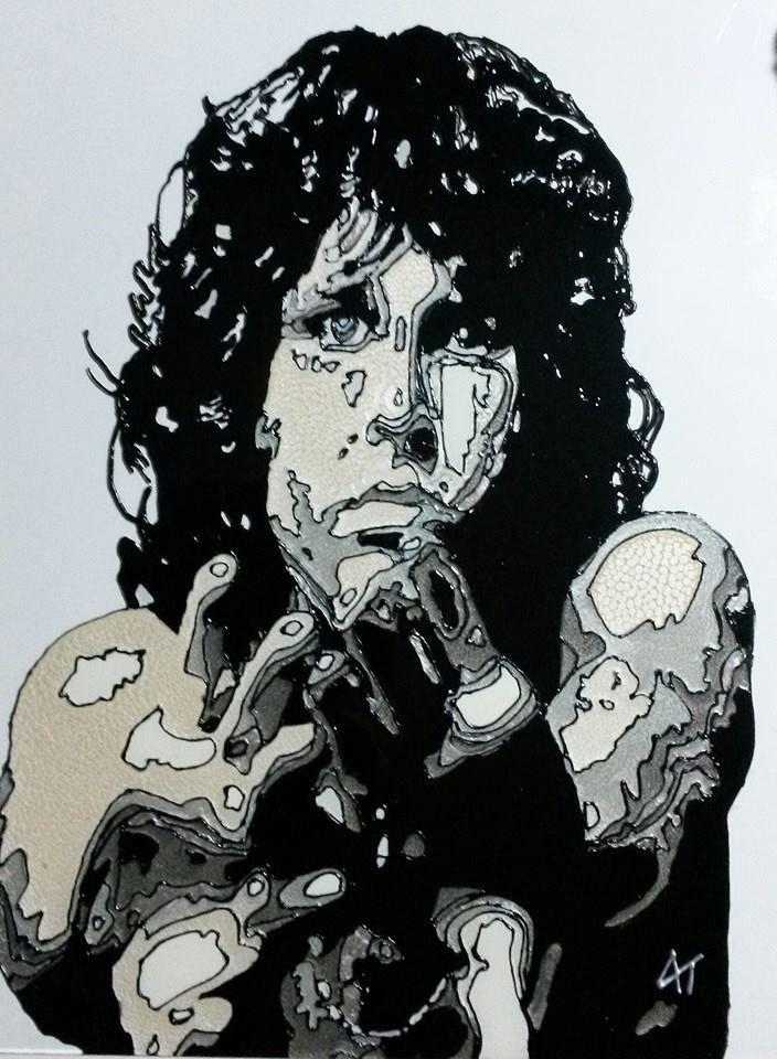 Jim Morrison Glass Painting https://www.facebook.com/AngiesGlassworks?fref=ts