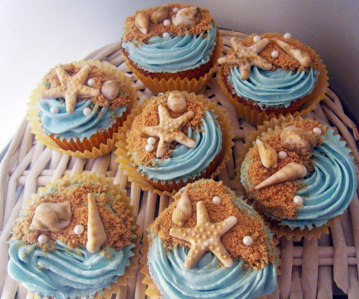 Cupcakes inspired at the sea