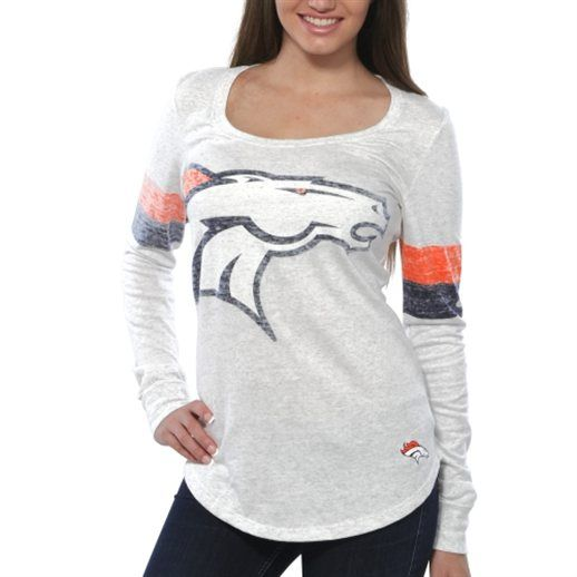 Nike Denver Broncos Women's White Take it Long Long Sleeve T-Shirt Probably need a Medium...