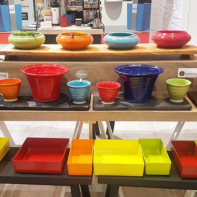 Looking to add colour to your buffet display?  Check out our full range of Irish handmade bowls and wooden boards until 5pm today at CATEX! #CATEX #Exhibition #Buffet #Display #Colour #Food #RDS #L4L