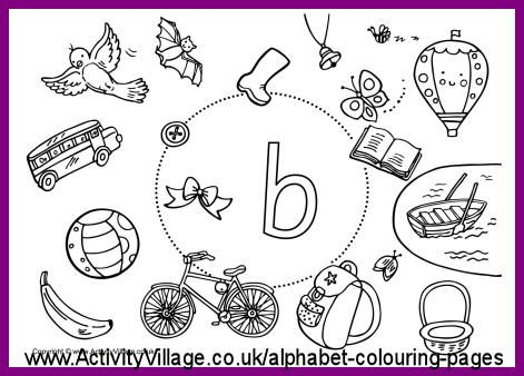 more i spy alphabet colouring pages - Kids Colouring Activities