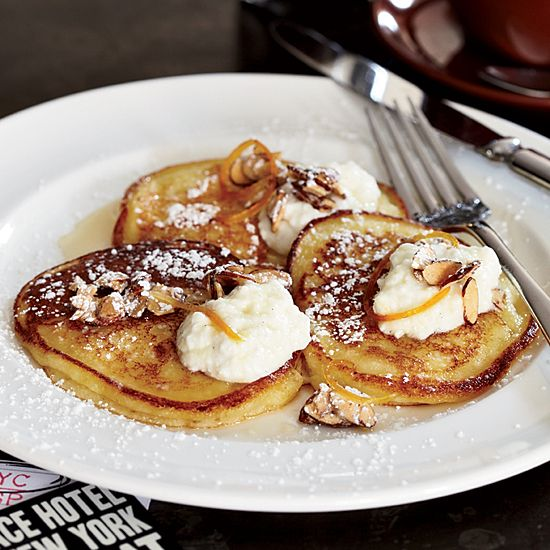 April Bloomfield's incredible #pancakes are equisite with or without their soft #ricotta topping