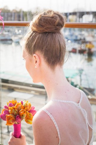 High Bun for bridal hairstyle | Whimsical Vancouver Styled Wedding Shoot