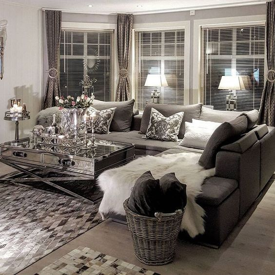 Best 25 silver living room ideas on pinterest entrance - Black and silver lounge design ...