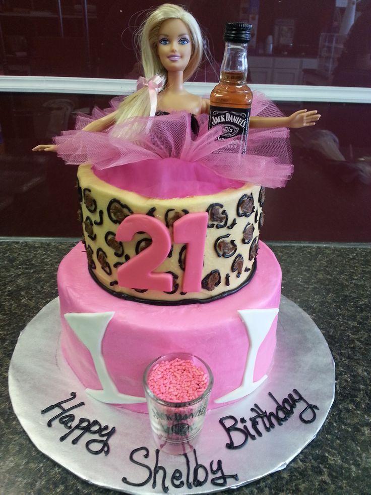 21 Birthday Cake Ideas With Barbie 101365 Barbie 21 Cake N