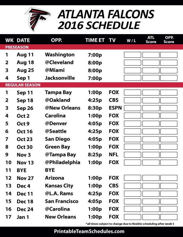 2016-17 Atlanta Falcons Schedule #LocalMatterz CEO  is a football fanatic and he loves the Falcons.  #Riseup