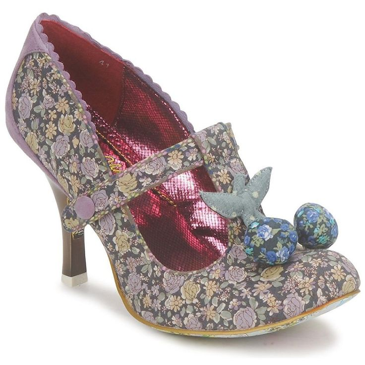 WOMENS IRREGULAR CHOICE I LOVE MARK FLORAL VINTAGE T-BAR HEELS SHOES SIZE 3 - 8 #IrregularChoice #MaryJanes