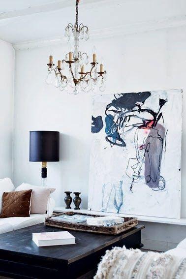 Chandelier. Abstract art.