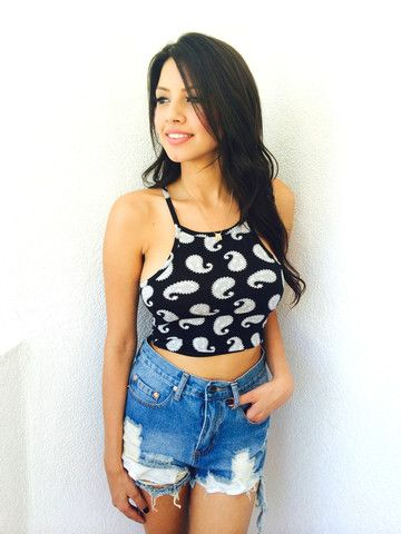Armada Bandana Crop- Grey Black – BelleXo♥