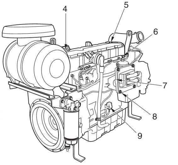 Volvo Penta Industrial Diesel Engine Tad734ge 250kw At 1500rpm