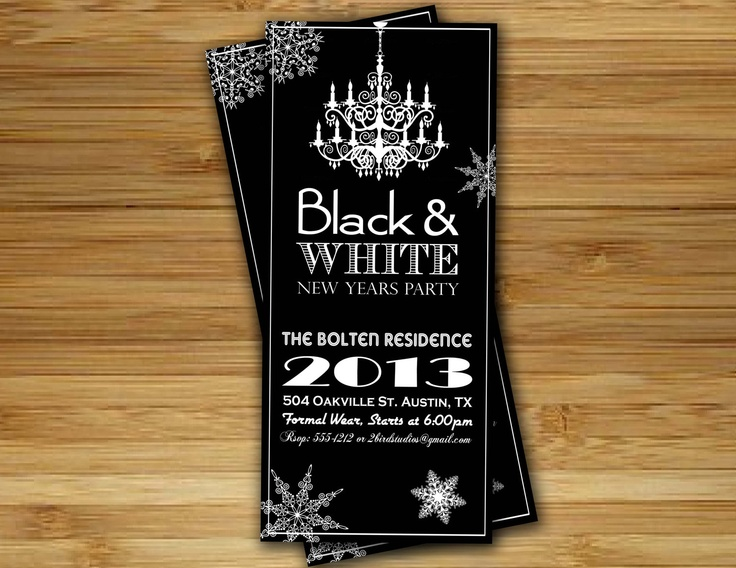 61 best images about Black and White Gala – Black and White Themed Party Invitations