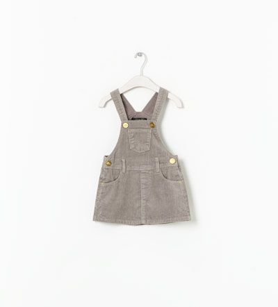 I had this exact outfit in high school. :)  BASIC CORDUROY PINAFORE DRESS - Zara