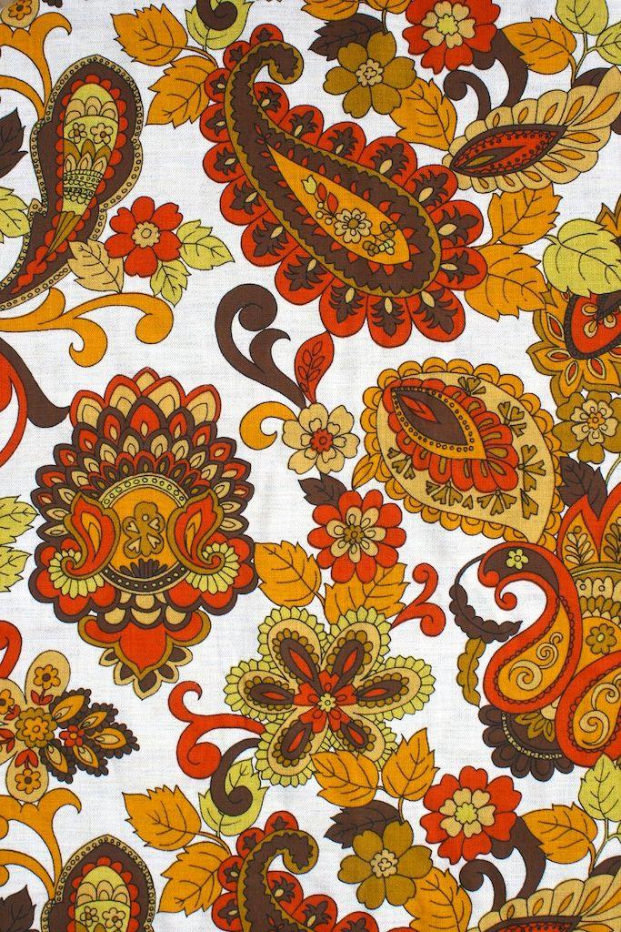 1970s Vintage paisley Retro Fabric – 2