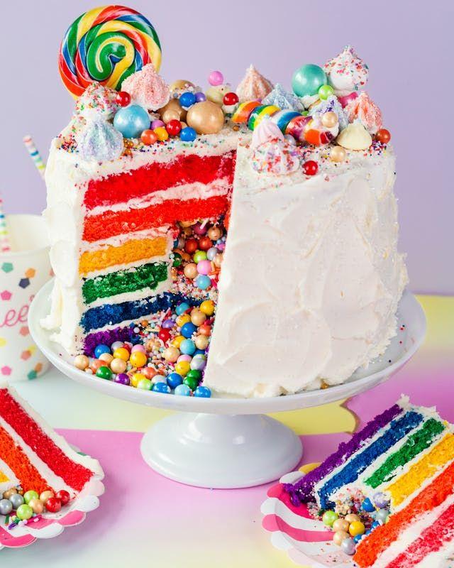 Best 25+ Rainbow Layer Cakes Ideas On Pinterest