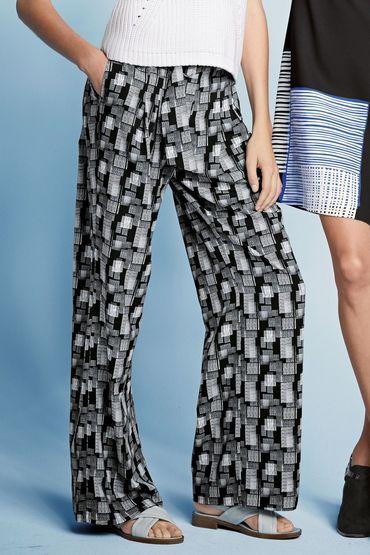 Buy Next Scratch Print Wide Leg Trousers   Shop Pants Womenswear at the BrandStore EziBuy NZ