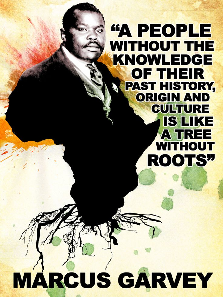 "blackhistoryseries: "" Marcus Garvey #BlackHistoryMonth Tribute Design (2/2/12) """