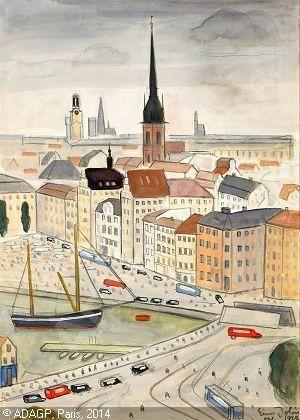 Einar Jolin - Utsikt över Kornhamnstorg, Stockholm 1929
