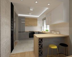 Aranżacje wnętrz - Kuchnia: Dom 120 m2 pod Krakowem - Średnia otwarta kuchnia w kształcie litery u w aneksie, styl nowoczesny - INNers - architektura wnętrza. Przeglądaj, dodawaj i zapisuj najlepsze zdjęcia, pomysły i inspiracje designerskie. W bazie mamy już prawie milion fotografii!