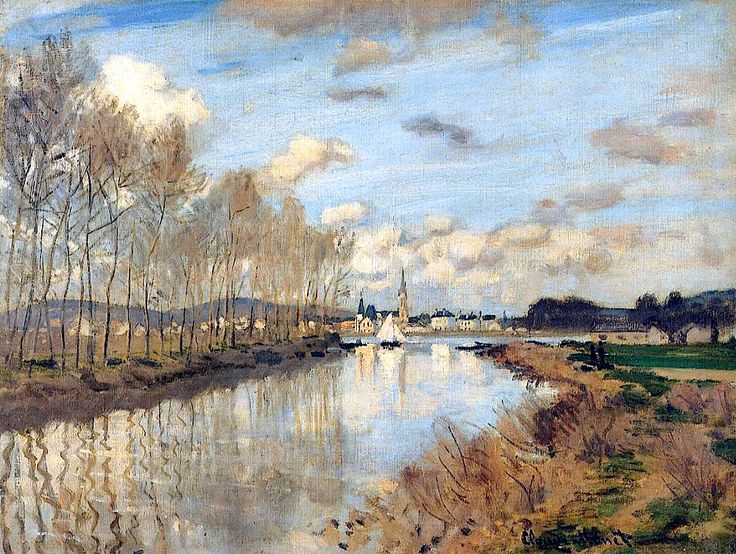Claude Monet / Argenteuil, Seen from the Small Arm of the Seine (1872)