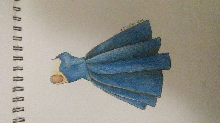 drawing, fashion, blue, dress, style