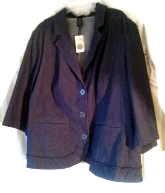 Lane Bryant Queen Size Blue Business Jacket - Size 26 Plus -  1/2  Off  Retail  #LaneBryant #BasicJacket
