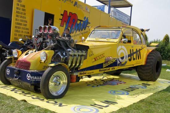 2cv, pas sur que le moteur soit d'origine Citron