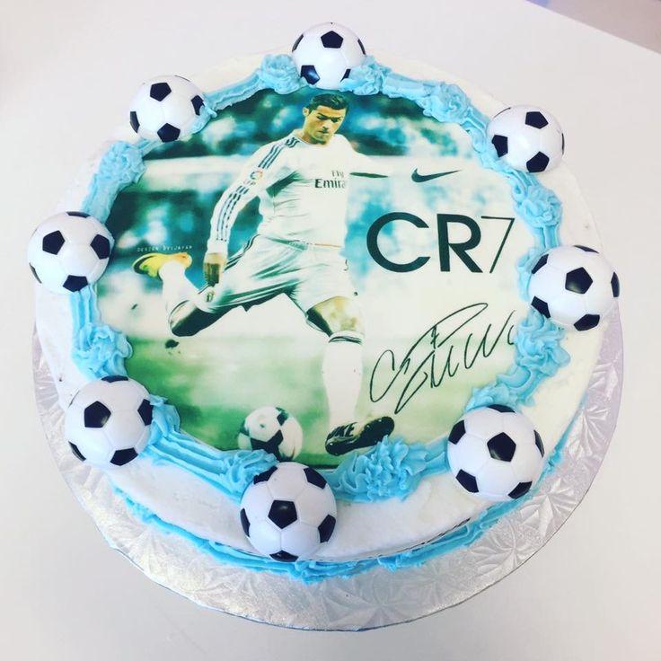 Cristiano Ronaldo #CR7 Edible Imaged Cake