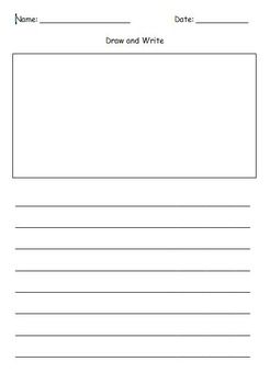 First Grade Draw And Write Writing Template