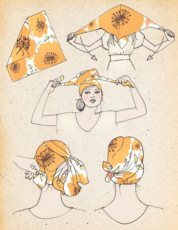 Scarf How To | Samantha Hahn    Samantha  Hahn is one of my favourite illustrators. Her gorgeous designs combine  digital media, ink and watercolour. I was having a trawl through her  portfolio and found her 'how to' section with illustrations she's done  for different companies and magazines. I particularly like these two  scarf how-to illustrations she's done. Click on the pic to see more!