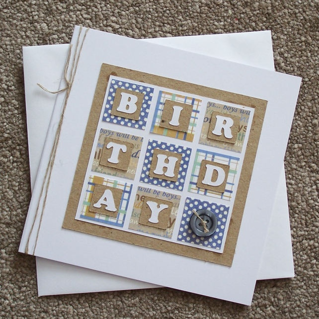 Handmade Male Birthday Card £1.80