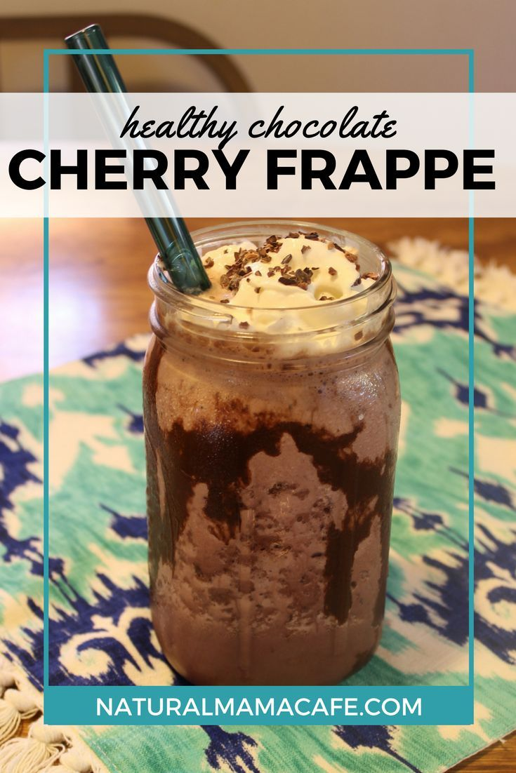 Get ready for your dreams to come true, because I'm about to show you how to make a healthy chocolate cherry frappe at home.
