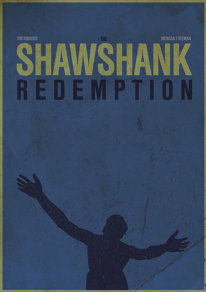 The Shawshank Redemption (1994) ~ Minimal Movie Poster by Simon Stratford #amusementphile