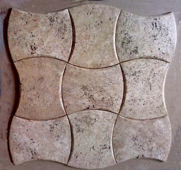 Panel piedra olivillo.