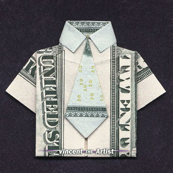 money origami shirt made with 20 bill money dollar