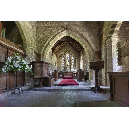 St Michael And All Angels Church Ingram Northumberland England Canvas Art - John Short Design Pics (19 x 12)