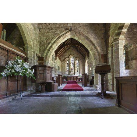 St Michael And All Angels Church Ingram Northumberland England Canvas Art - John Short Design Pics (19 x 12)