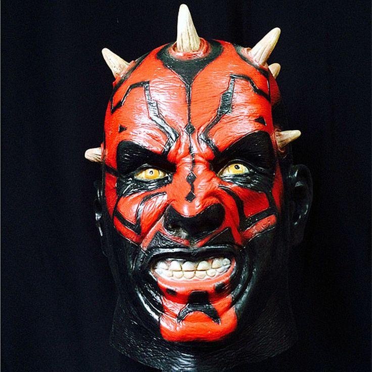 New Star Wars Darth Maul Adult Latex Mask Costume Cosplay 8