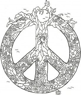 90 best peace images on pinterest | mandalas, coloring books and ... - Peace Sign Mandala Coloring Pages