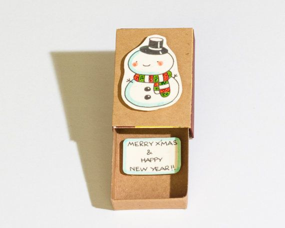 Holiday Card / Cute Snowman Christmas Greeting Card/ by shop3xu