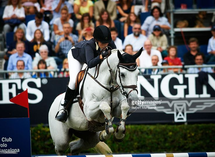 Athina Onassis de Miranda in action during the 100th CSIO event at the Real Club de Polo Barcelona on September 24, 2011 in Barcelona, Spain.