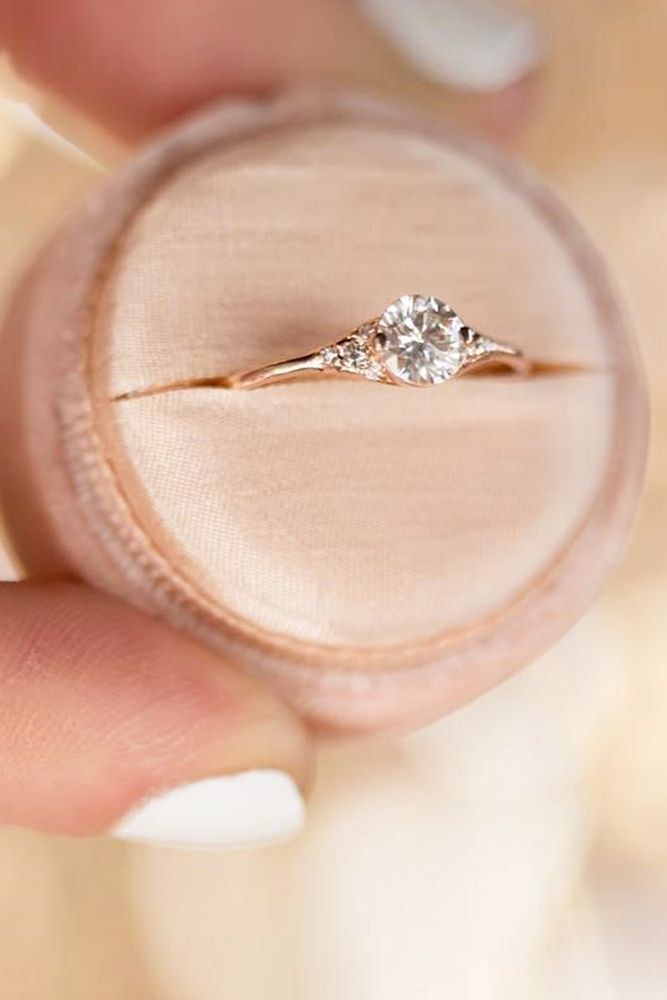 Three Stone Engagement Rings You Will Want ❤️ See more: http://www.weddingforward.com/three-stone-engagement-rings/ #weddings