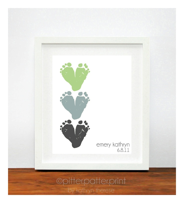 Daddys First Fathers Day Part - 43: First Fatheru0027s Day Gift For New Dad, Baby Footprint U0026 Dad Hand Print,  Personalized Gift For Dad, Your Childu0027s Footprints, Art Print