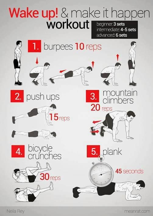 Wake up, work Out!