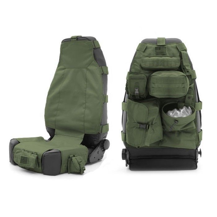 Smittybilt G.E.A.R. Front Seat Cover, Olive Drab Green - Sold Individually
