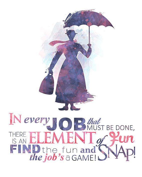 Spoonful of Sugar Mary Poppins 8×10 Printable Poster – DIGITAL / Instant Download / Disney Wall Art / Home Decor / Quote