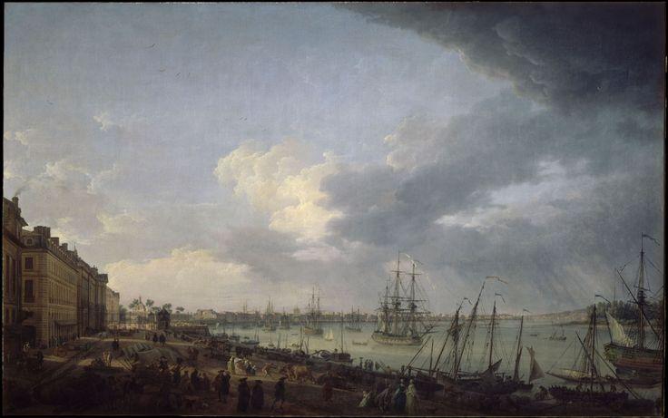 Les 16 meilleures images du tableau vernet joseph sur pinterest joseph paysages et le nuage - Le port de bordeaux par joseph vernet ...
