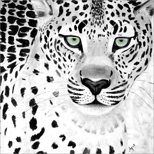 Der Leopard sw: Poster & Kunstdruck von Annett Tropschug
