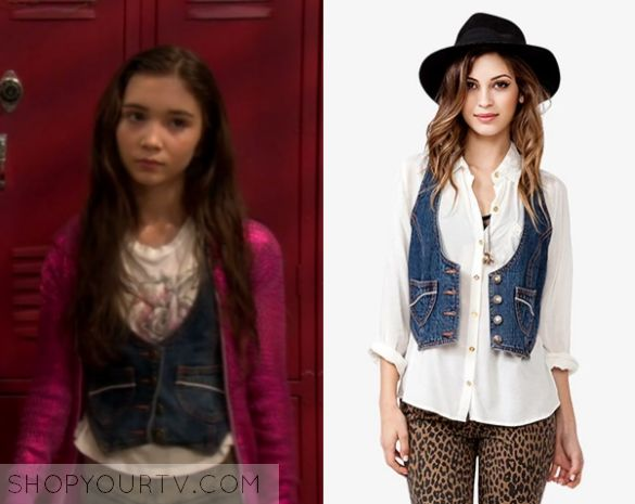 3aaf4fdb7a246f Girl Meets World  Season 1 Episode 1 Riley s Denim Vest