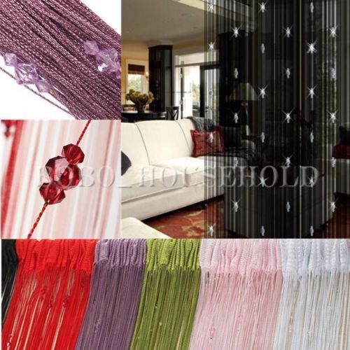 3-Bead-Curtain-Crystal-Divider-Decorative-String-Door-Window-Room-Panel-Romantic